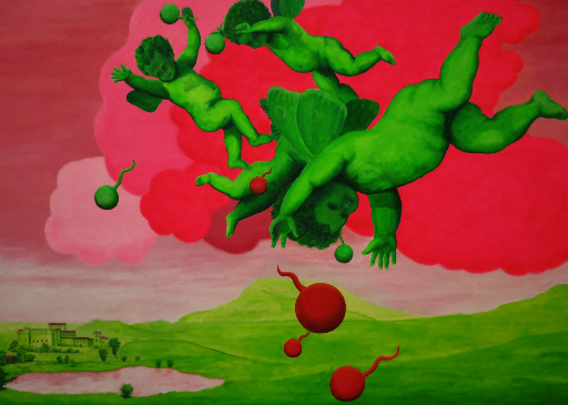 Wie die Grünonen und Eronen auf die Erde kamen (nach N. Poussin)