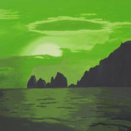 Capri, Öl auf Leinwand, 100 x 100cm