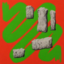 Pottenstein, Öl auf Leinwand, 100 x 100cm