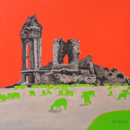 Dresden, Öl und Acryl auf Leinwand, 100 x 100cm