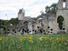 Chemin des Dames, Abbaye de Vauclair, Frankreich