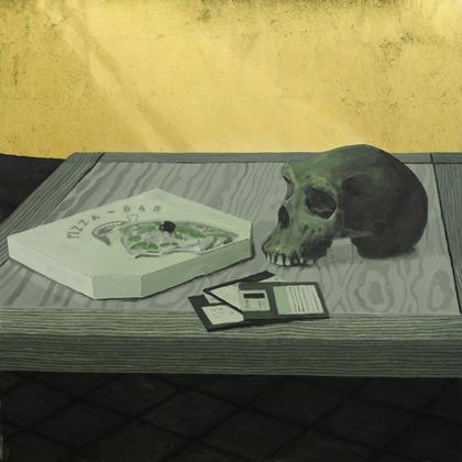 """""""Vanitas"""", Öl auf Leinwand, Blattgold, 100 x 100cm"""